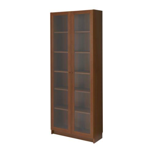Шкаф книжный со стеклянными дверьми билли/ билли биом, икеа.